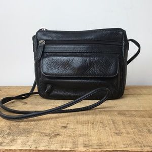 Fossil leather cross body bag purse small travel